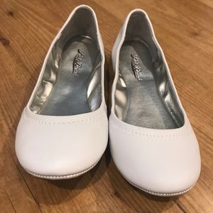 Lucky Brand Emmie White Leather Flats Sz 7